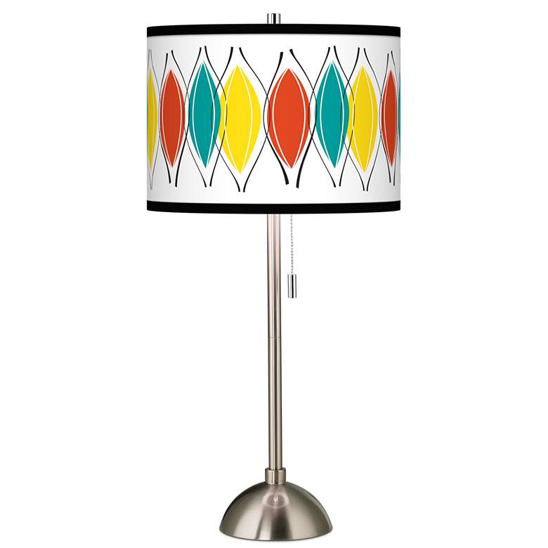Harmonium Giclee Brushed Nickel Table Lamp