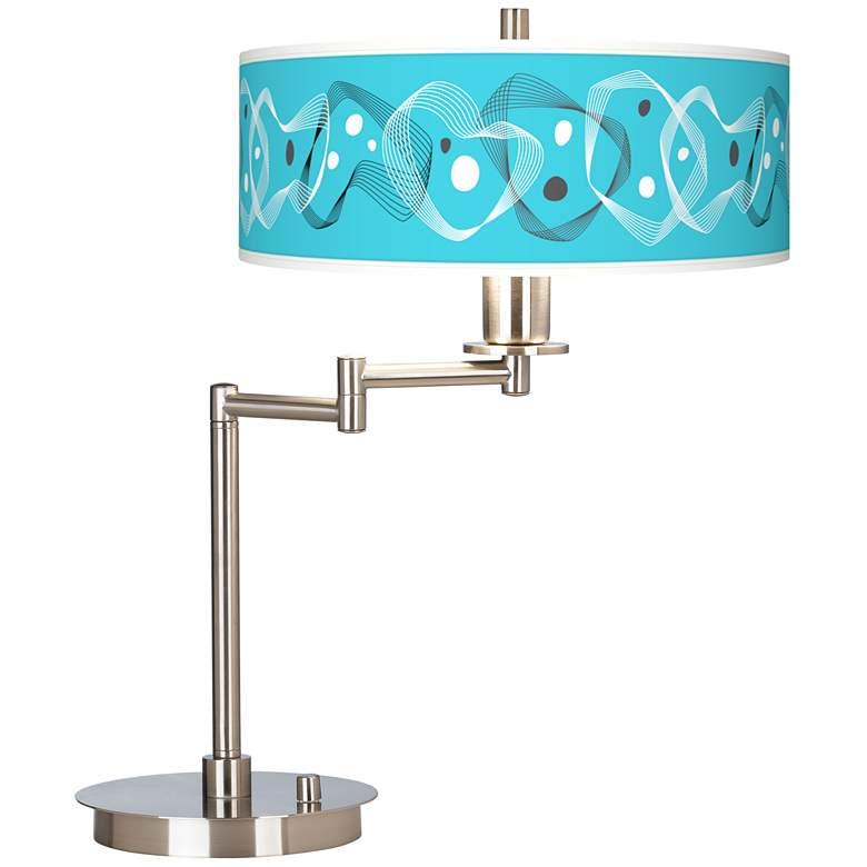 Spirocraft Giclee Brushed Nickel Swing Arm LED Desk Lamp