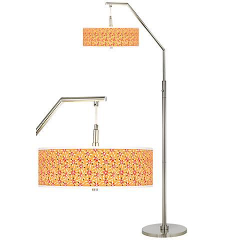 Seastar Giclee Shade Arc Floor Lamp