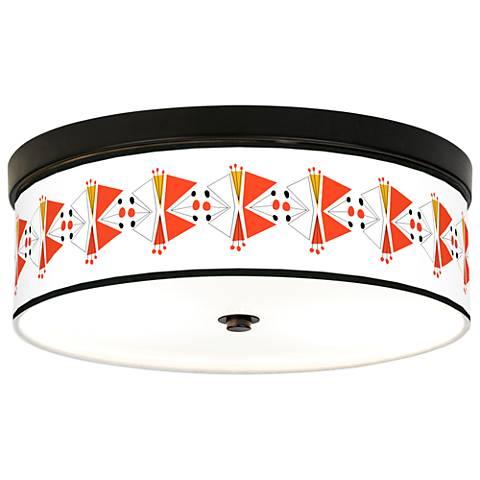 Lexiconic III Giclee Energy Efficient Bronze Ceiling Light