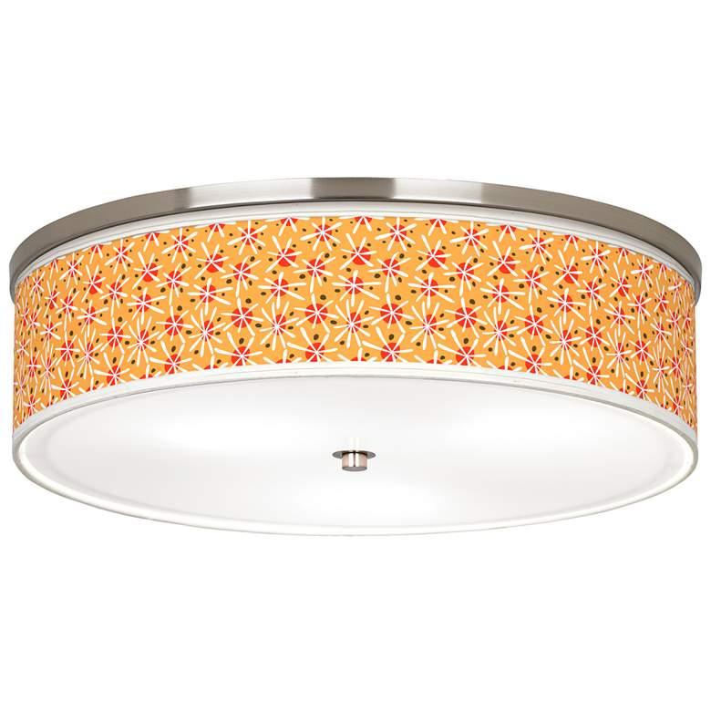 """Seastar Giclee Nickel 20 1/4"""" Wide Ceiling Light"""
