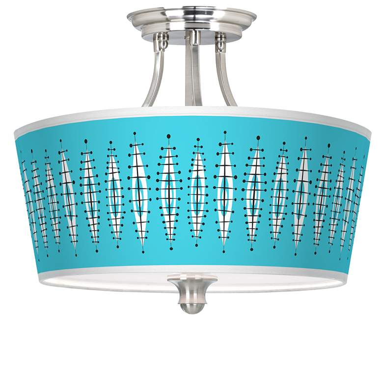 Vibraphonic Bounce Tapered Drum Giclee Ceiling Light