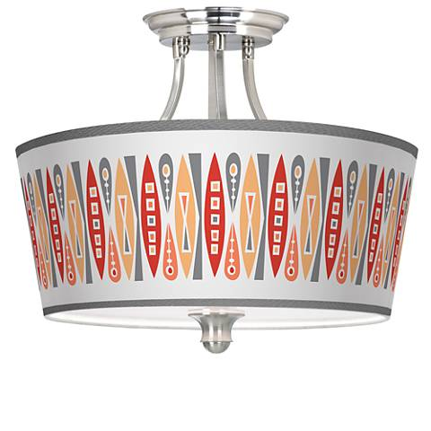 Vernaculis VI Tapered Drum Giclee Ceiling Light