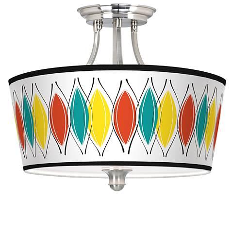 Harmonium Tapered Drum Giclee Ceiling Light