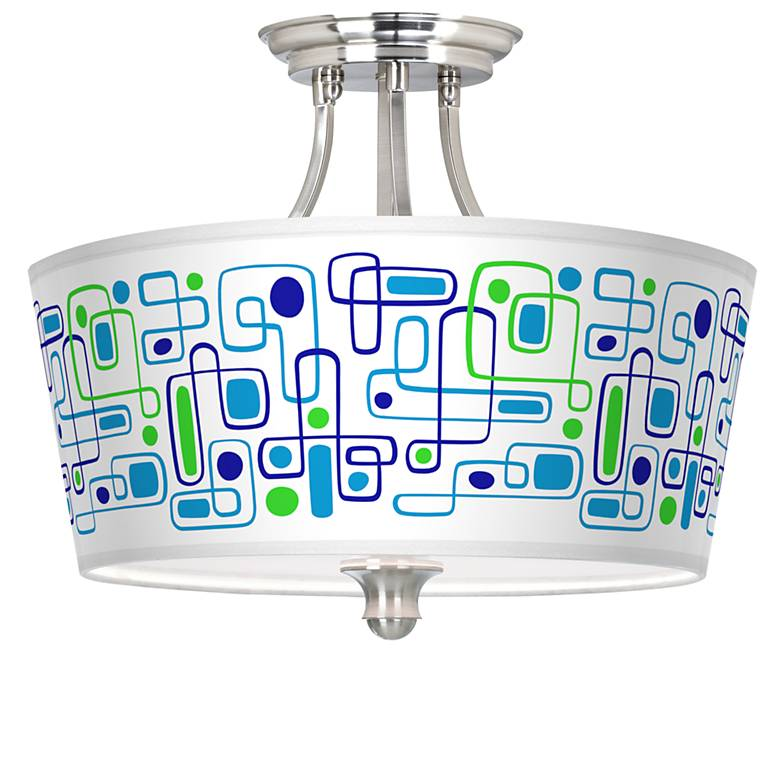 Racktrack Tapered Drum Giclee Ceiling Light