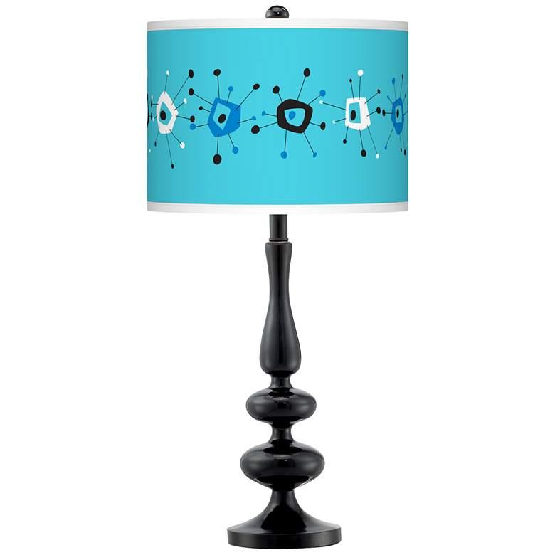 Sputnickle Giclee Paley Black Table Lamp