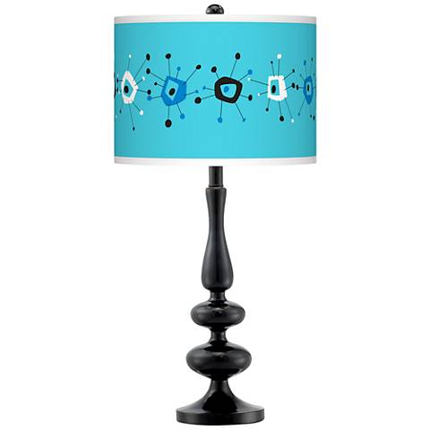 Sputnickle Giclee Paley Black Table Lamp