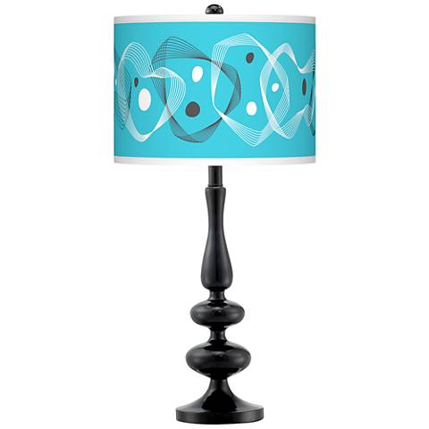 Spirocraft Giclee Paley Black Table Lamp
