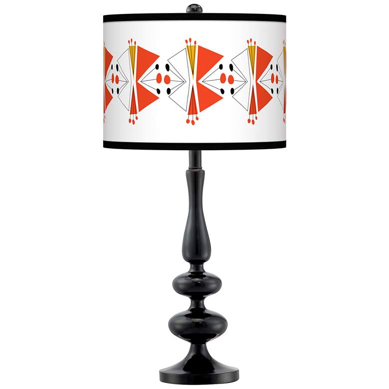 Lexiconic III Giclee Paley Black Table Lamp