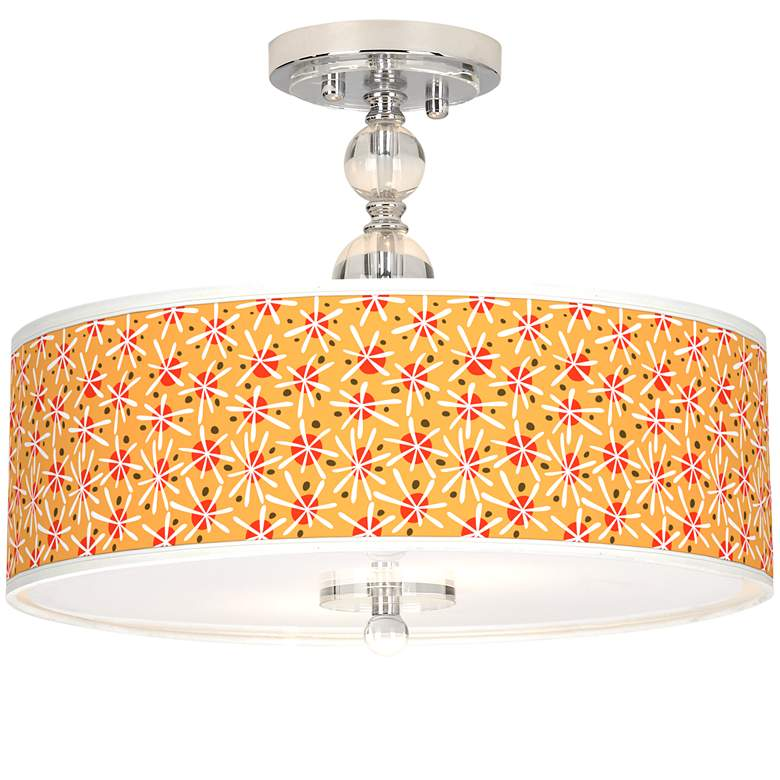 "Seastar Giclee 16"" Wide Semi-Flush Ceiling Light"