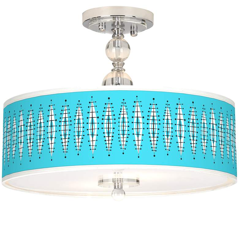 "Vibraphonic Bounce Giclee 16"" Wide Semi-Flush Ceiling Light"
