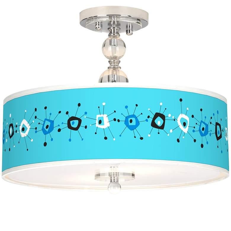 "Sputnickle Giclee 16"" Wide Semi-Flush Ceiling Light"