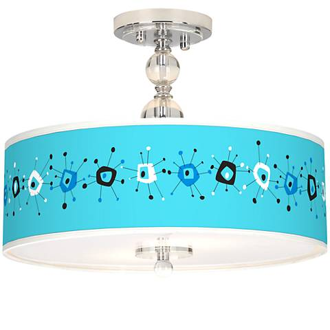 "Sputnickle Giclee 16"" Wide Semi-Flush Ceiling Light"