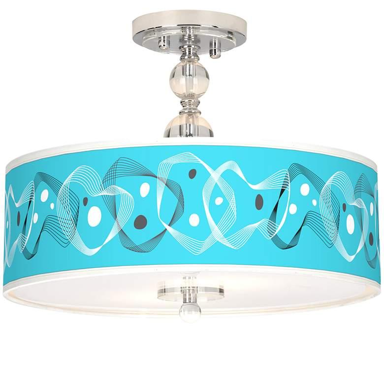 "Spirocraft Giclee 16"" Wide Semi-Flush Ceiling Light"