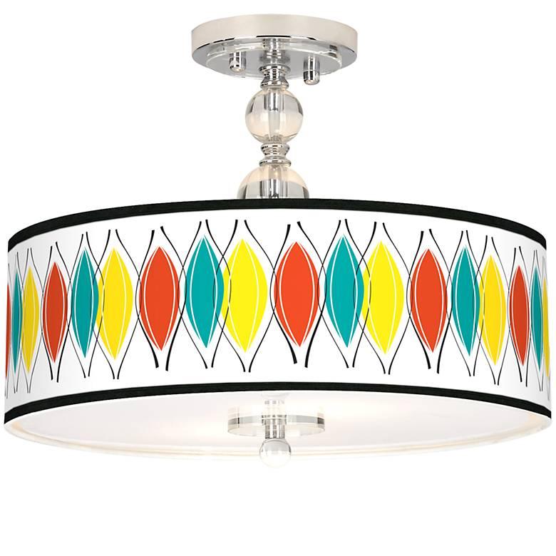 "Harmonium Giclee 16"" Wide Semi-Flush Ceiling Light"