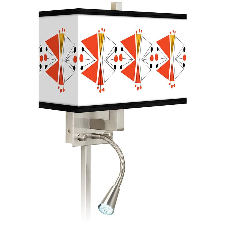 Lexiconic III Giclee Glow LED Reading Light Plug-In Sconce
