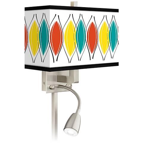 Harmonium Giclee Glow LED Reading Light Plug-In Sconce