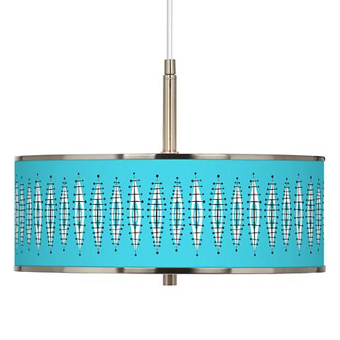 "Vibraphonic Bounce Giclee Glow 16"" Wide Pendant Light"