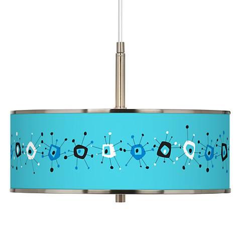 "Sputnickle Giclee Glow 16"" Wide Pendant Light"