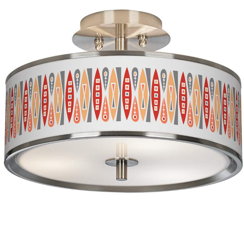 "Vernaculis VI Giclee Glow 14"" Wide Ceiling Light"
