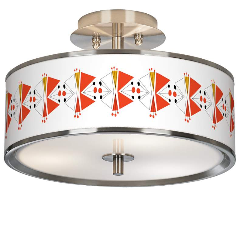 """Lexiconic III Giclee Glow 14"""" Wide Ceiling Light"""