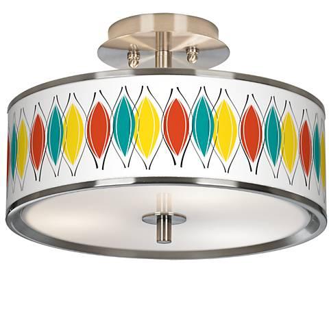 "Harmonium Giclee Glow 14"" Wide Ceiling Light"