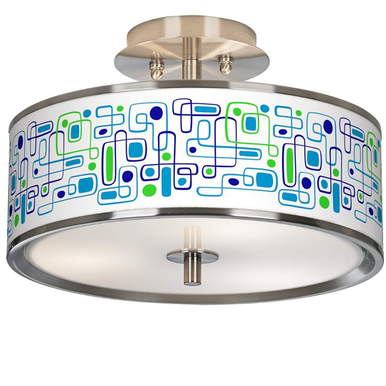 "Racktrack Giclee Glow 14"" Wide Ceiling Light"