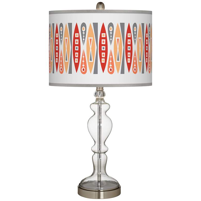 Vernaculis VI Giclee Apothecary Clear Glass Table Lamp