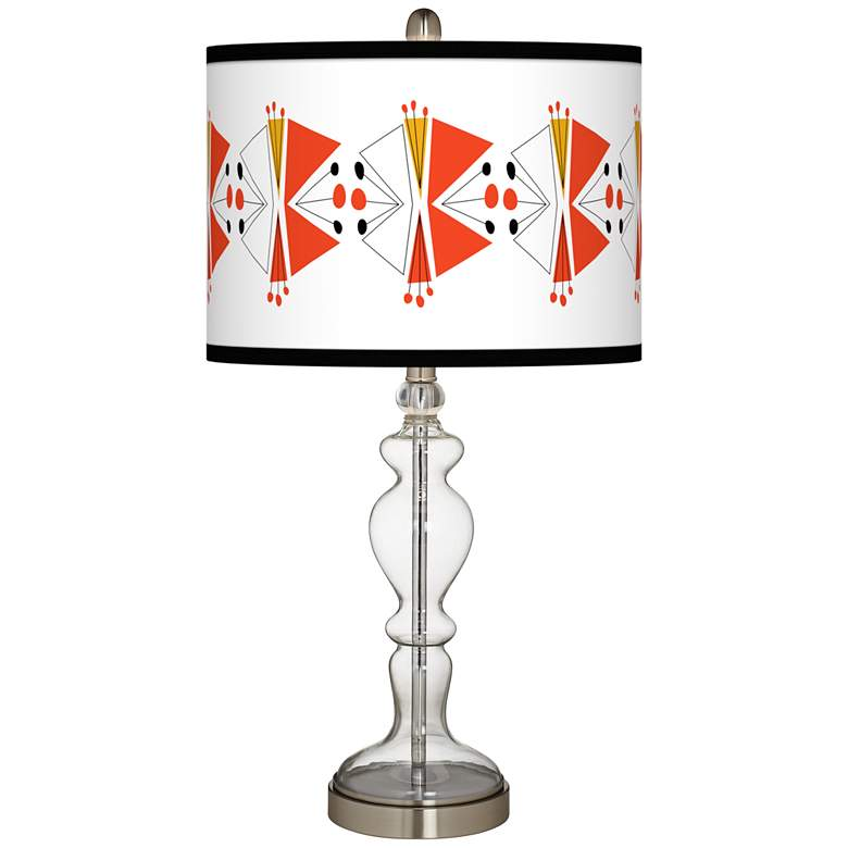 Lexiconic III Giclee Apothecary Clear Glass Table Lamp