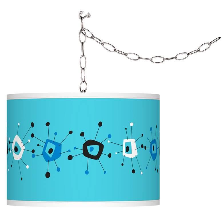 Sputnickle Giclee Glow Plug-In Swag Pendant