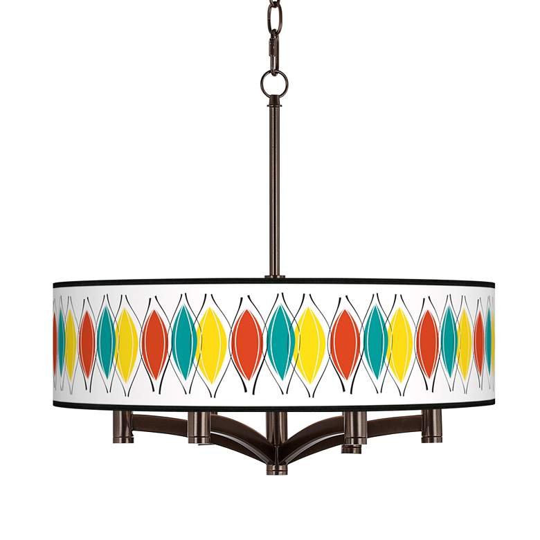 Harmonium Ava 6-Light Bronze Pendant Chandelier