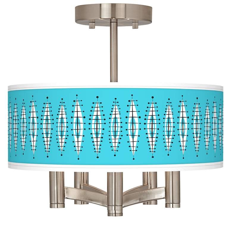 Vibraphonic Bounce Ava 5-Light Nickel Ceiling Light