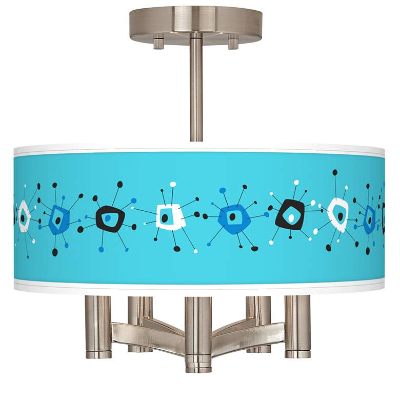 Sputnickle Ava 5-Light Nickel Ceiling Light