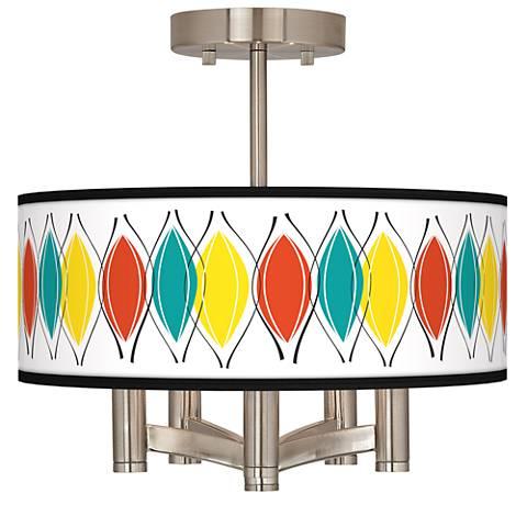 Harmonium Ava 5-Light Nickel Ceiling Light