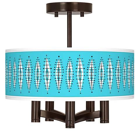 Vibraphonic Bounce Ava 5-Light Bronze Ceiling Light