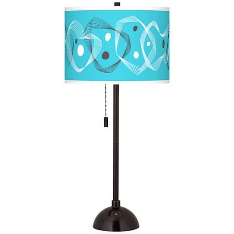 Spirocraft Giclee Glow Tiger Bronze Club Table Lamp