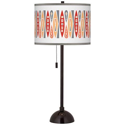 Vernaculis VI Giclee Glow Tiger Bronze Club Table Lamp