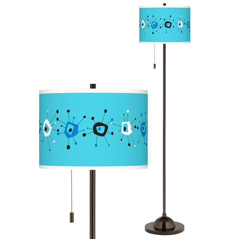 Sputnickle Giclee Glow Bronze Club Floor Lamp