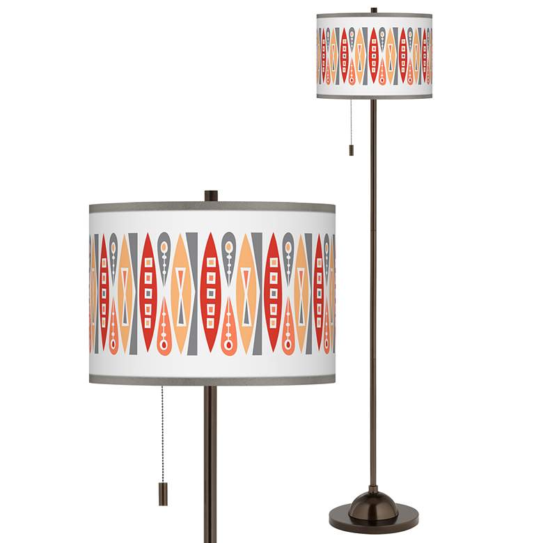 Vernaculis VI Giclee Glow Bronze Club Floor Lamp
