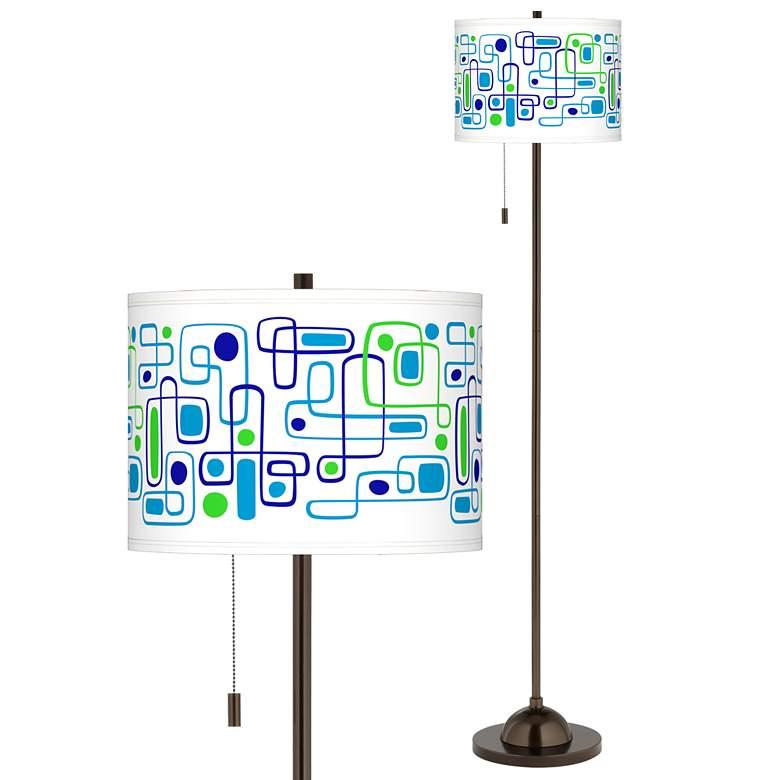 Racktrack Giclee Glow Bronze Club Floor Lamp