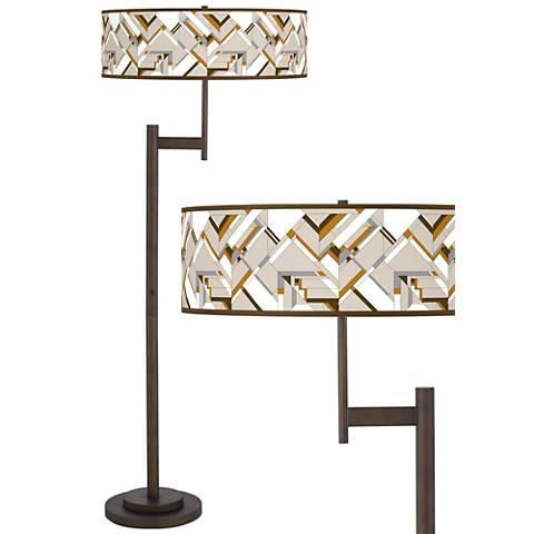 Craftsman Mosaic Parker Light Blaster™ Bronze Floor Lamp