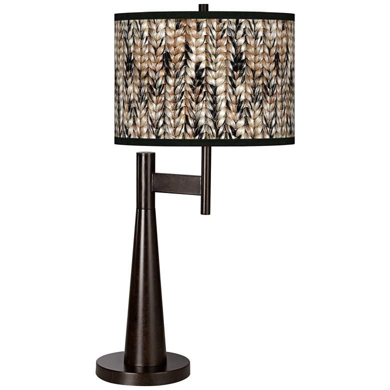 Braided Jute Giclee Novo Table Lamp