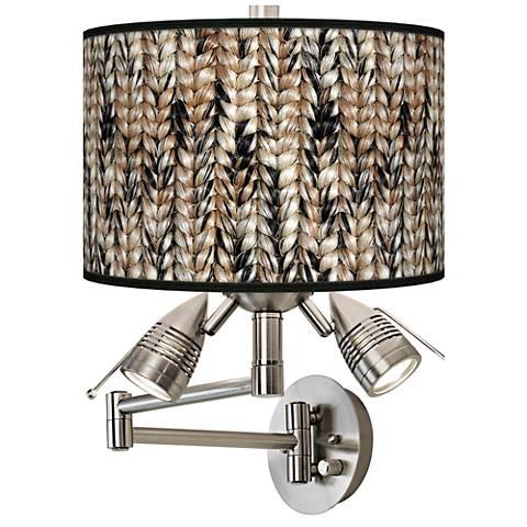 Braided Jute Giclee Swing Arm Wall Lamp
