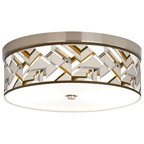 Craftsman Mosaic Giclee Energy Efficient Ceiling Light