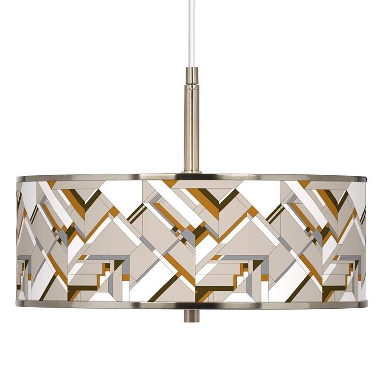 "Craftsman Mosaic Giclee Glow 16"" Wide Pendant Light"