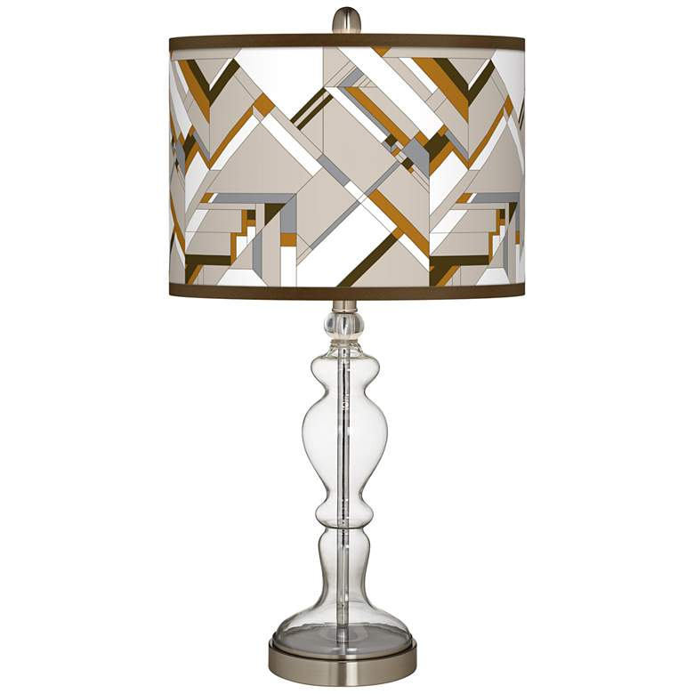 Craftsman Mosaic Giclee Apothecary Clear Glass Table Lamp