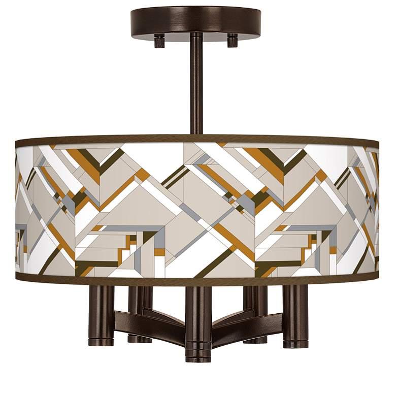 Craftsman Mosaic Ava 5-Light Bronze Ceiling Light