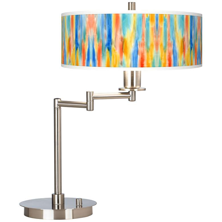 Tricolor Wash Giclee Swing Arm LED Desk Lamp