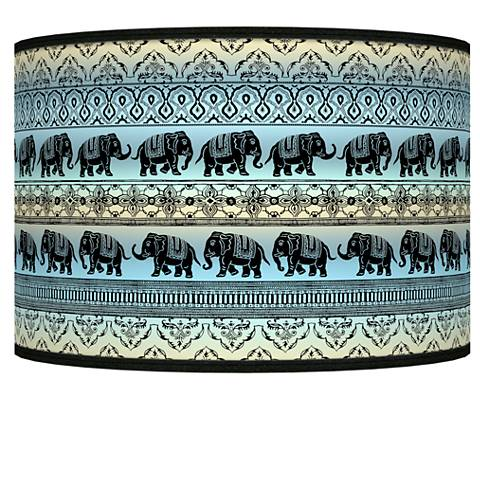 Elephant March Giclee Shade 12x12x8.5 (Spider)