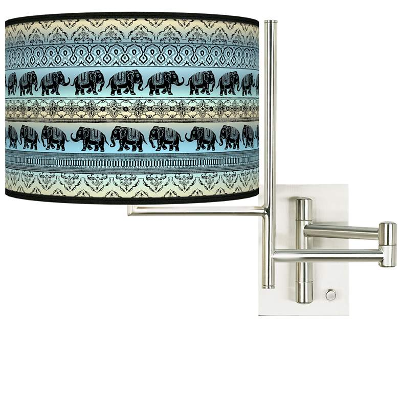 Tempo Elephant March Plug-in Swing Arm Wall Lamp
